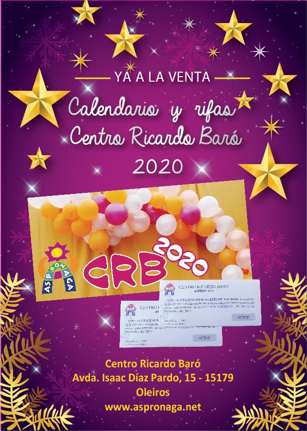 Cartel rifas calendarios CRB 2020